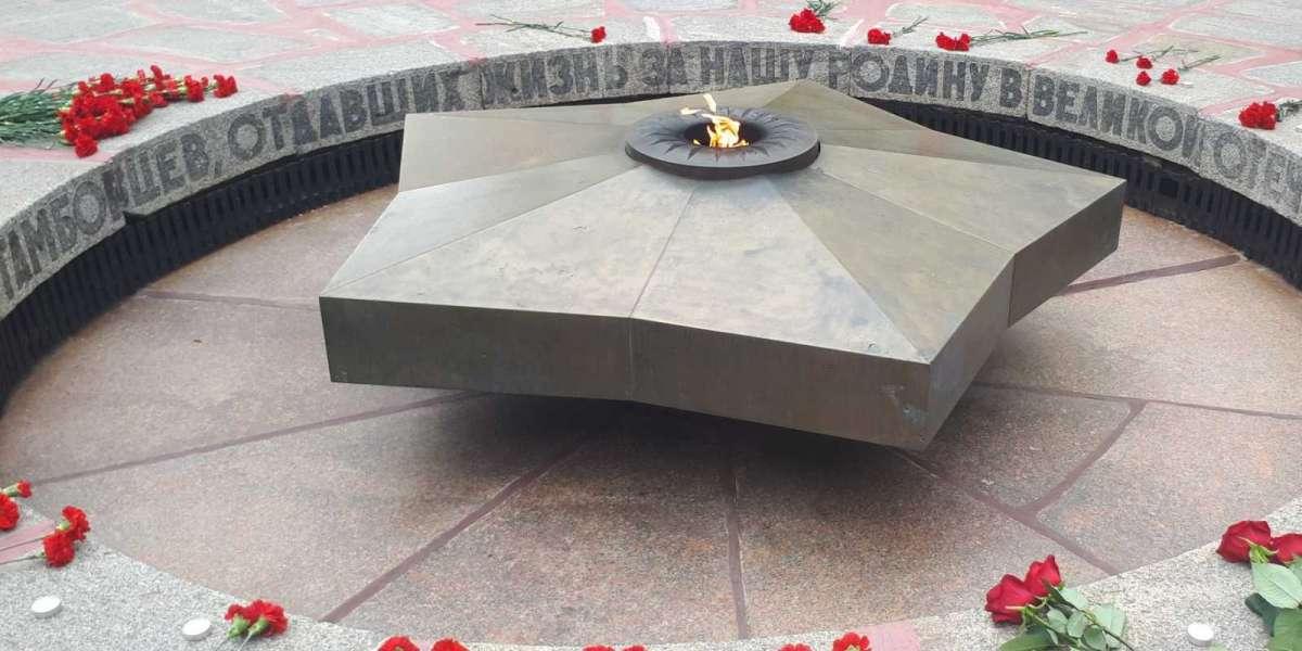 Глава партии «Родина» Журавлев в рамках рабочей поездки в Тамбов посетил мемориал «Вечный огонь»